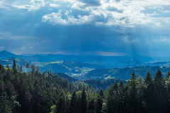 Hiking trip in Gais, a town in the swiss alps Royalty Free Stock Photos