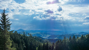 Hiking trip in Gais, a town in the swiss alps Royalty Free Stock Photography