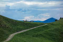 Hiking trip in Gais, a town in the swiss alps Stock Photo