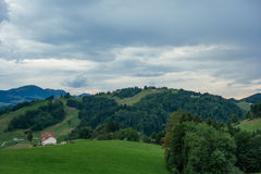 Hiking trip in Gais, a town in the swiss alps Stock Photography
