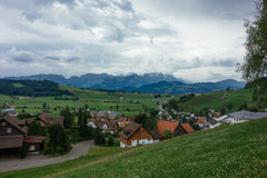 Hiking trip in Gais, a town in the swiss alps Royalty Free Stock Images