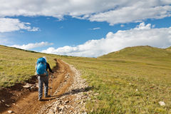 Hiking in the Tundra Royalty Free Stock Photography