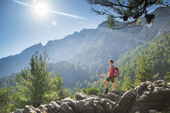 Hiking up Royalty Free Stock Photo