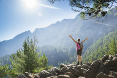 Hiking up Royalty Free Stock Images