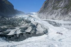 Glacier Hike. Hiking up the Franz Josef Glacier of New Zealand Royalty Free Stock Image