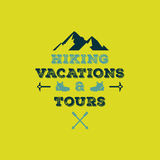Hiking vacations & tours vector illustration Stock Image