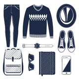 Hiking vector set. Stock Images