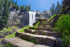 Hiking Vernal Fall Royalty Free Stock Images
