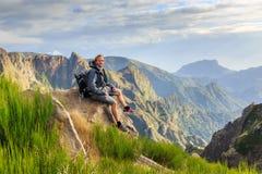Hiking view Madeira tourist royalty free stock photo