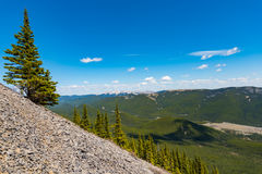 Rocky Mountain summer hiking views. Hiking views of the Canadian Rocky Mountains, Nihahi Ridge Kananaskis Country Alberta Canada Royalty Free Stock Photography