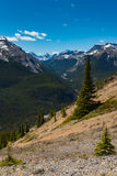 Rocky Mountain summer hiking views. Hiking views of the Canadian Rocky Mountains, Nihahi Ridge Kananaskis Country Alberta Canada Royalty Free Stock Photo