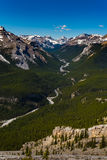 Rocky Mountain summer hiking views. Hiking views of the Canadian Rocky Mountains, Nihahi Ridge Kananaskis Country Alberta Canada Stock Image