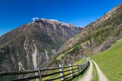 Hiking in Vinschgau Royalty Free Stock Image