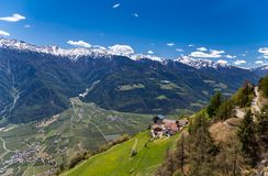 Hiking in Vinschgau Royalty Free Stock Photo