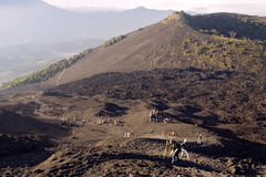 Hiking Volcan Agua royalty free stock photography
