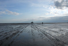 Hiking the Wadden Sea Royalty Free Stock Photography
