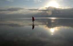 Hiking the Wadden Sea Stock Image