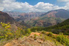 Hiking Waimea Canyon Stock Images