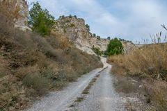 Hiking walk through the province of Albacete. Towards the river world Stock Photo