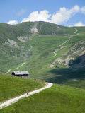 Hiking way in south tyrol Royalty Free Stock Images