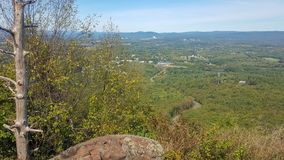 Hiking view in Western Massachusetts stock image