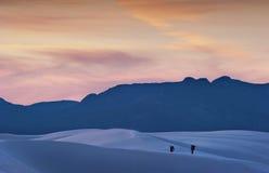 Hiking the white dunes Royalty Free Stock Photo
