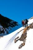 Hiking in winter Stock Photo