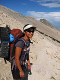 Hiking woman Royalty Free Stock Image