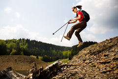 Hiking woman Royalty Free Stock Photos