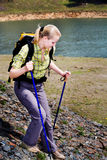 Hiking woman Stock Images