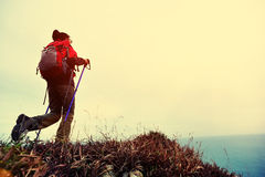 Hiking woman Royalty Free Stock Image