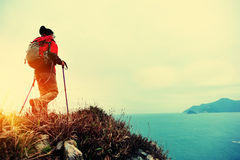 Hiking woman Stock Photo