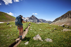 Hiking woman Royalty Free Stock Images