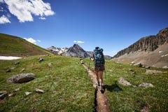 Hiking woman Stock Photography