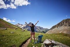 Hiking woman Stock Photos