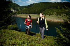 Hiking women Royalty Free Stock Photography