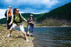 Hiking women 2 Stock Photos