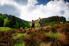 Hiking women Royalty Free Stock Image