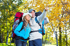 Hiking young couple. Stock Photography