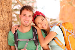 Hiking young couple portrait Royalty Free Stock Image