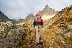 Hiking young woman Royalty Free Stock Image
