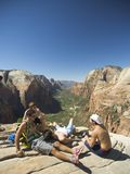 Hiking in Zion, Utah. Royalty Free Stock Image