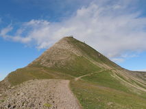 Hikingpath aan Faulhorn Zwitserland royalty-vrije stock afbeelding