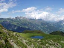 Hikingtrail aan Mannlichen Zwitserland Stock Afbeelding