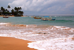 Hikkaduwa Beach in Sri Lanka Stock Photography