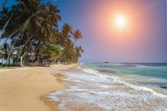 Hikkaduwa est une petite ville sur la côte sud de Sri Lanka placent Images libres de droits