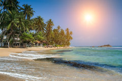 Hikkaduwa is a small town on the south coast of Sri Lanka locate Royalty Free Stock Photography