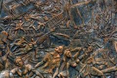 HIKKADUWA, SRI LANKA, CIRCA DECEMBER 2013: Monument aan tsunamislachtoffers van 2004 Stock Fotografie