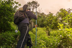 Hikker-Reise in das wilde Lizenzfreies Stockbild