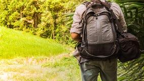 Hikker-Reise in das wilde Lizenzfreies Stockfoto